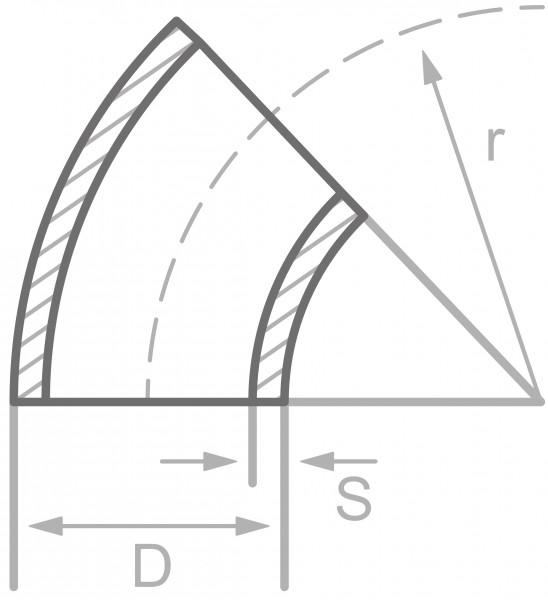 Rohrbogen Typ 3/LR